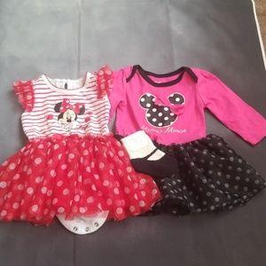 2 minnie dresses